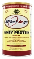 Solgar - Whey To Go Protein Powder Natural Vanilla - 12 oz. - $15.99