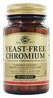 Solgar - Yeast-Free Chromium 100 mcg. - 90 Tablets, from category: Vitamins & Minerals