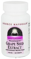 Image of Source Naturals - Grape Seed Extract Proanthodyn 100 mg. - 120 Tablets