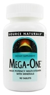 Image of Source Naturals - Mega-One Multiple - 90 Tablets Formerly Mega-Vite 85