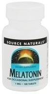 Source Naturals - Melatonin 1 mg. - 100 Tablets by Source Naturals