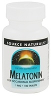 Image of Source Naturals - Melatonin 1 mg. - 100 Tablets