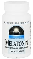 Source Naturals - Melatonin 1 mg. - 200 Tablets CLEARANCED PRICED, from category: Nutritional Supplements