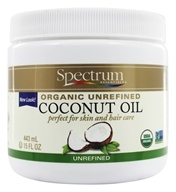 Image of Spectrum Essentials - Organic Coconut Oil Unrefined - 15 oz.