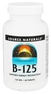 Source Naturals - Vitamin B-125 Balanced B Complex 125 mg. - 60 Tablets, from category: Vitamins & Minerals