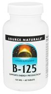 Source Naturals - Vitamin B-125 Balanced B Complex 125 mg. - 60 Tablets