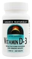 Source Naturals - Vitamin D3 1000 IU - 200 Tablets