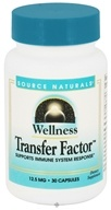 Source Naturals - Wellness Transfer Factor 12.5 mg. - 30 Capsules by Source Naturals