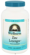 Source Naturals - Wellness Zinc Lozenges Peach-Raspberry 23 mg. - 120 Lozenges (021078009160)