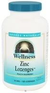 Source Naturals - Wellness Zinc Lozenges Peach-Raspberry 23 mg. - 120 Lozenges