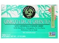 Triple Leaf Tea - Ginkgo & Decaf Green Tea with Ginseng & Chinese Herbs - 20 Tea Bags (023991000163)