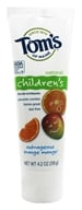 Tom's of Maine - Natural Toothpaste Children's With Fluoride Outrageous Orange-Mango - 4.2 oz., from category: Personal Care