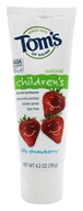 Tom's of Maine - Natural Toothpaste Children's With Fluoride Silly Strawberry - 4.2 oz., from category: Personal Care