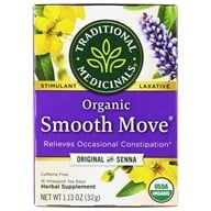 Traditional Medicinals - Smooth Move Tea - Herbal Stimulant Laxative - 16 Tea Bags