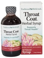 Image of Traditional Medicinals - Throat Coat Herbal Syrup - Soothes Sore Throats - 4 oz.