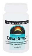 Source Naturals - Chem-Defense Molybdenum/Glutathione Complex Sublingual Peppermint Flavor - 90 Tablets