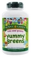 Image of Sunny Green - Yummy Greens Fruit Punch - 120 Chewable Tablets