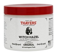 Thayers - Witch Hazel Astringent Pads with Aloe Vera - 60 Pad(s) (041507065772)
