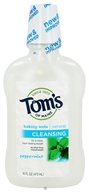 Image of Tom's of Maine - Natural Cleansing Mouthwash Baking Soda Peppermint - 16 oz.