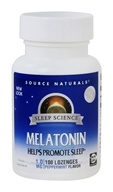 Image of Source Naturals - Melatonin Sublingual Peppermint 1 mg. - 100 Tablets