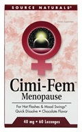 Image of Source Naturals - Cimi-Fem Menopause Sublingual Chocolate 40 mg. - 60 Tablets