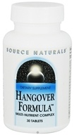 Source Naturals - Hangover Formula Multi-Nutrient Complex - 30 Tablets - $7.04