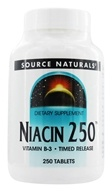 Source Naturals - Niacin 250 Vitamin B-3 250 mg. - 250 Tablets