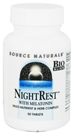 Image of Source Naturals - Night Rest With Melatonin - 50 Tablets