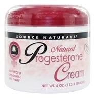 Image of Source Naturals - Natural Progesterone Cream - 4 oz.