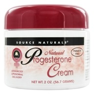 Image of Source Naturals - Natural Progesterone Cream - 2 oz.