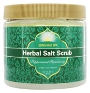 Image of Sunshine Spa - Herbal Salt Scrub Peppermint Rosemary - 23 oz.