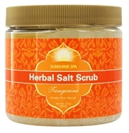 Image of Sunshine Spa - Herbal Salt Scrub Tangerine - 23 oz.