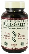 Ultimate Life - The Ultimate Blue-Green - 100% Organic Spirulina (Pure Algae, No Fillers) 500 mg. - 150 Tablets (754545400800)