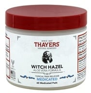 Thayers - Medicated Astringent Pads Superhazel with Aloe Vera - 60 Pad(s)