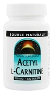Source Naturals - Acetyl L-Carnitine 250 mg. - 120 Tablets - $21.07