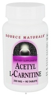 Source Naturals - Acetyl L-Carnitine 250 mg. - 90 Tablets CLEARANCED PRICED