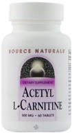 Source Naturals - Acetyl L-Carnitine 500 mg. - 60 Tablets (021078004998)