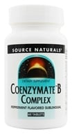 Source Naturals - Coenzymate B Complex Sublingual Peppermint Flavor - 60 Tablets (021078009436)