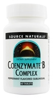 Source Naturals - Coenzymate B Complex Sublingual Peppermint Flavor - 60 Tablets - $13.33