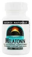 Source Naturals - Melatonin Sublingual Peppermint 2.5 mg. - 120 Tablets - $8.95