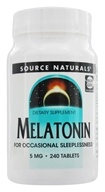 Source Naturals - Melatonin 5 mg. - 240 Tablets (021078005582)