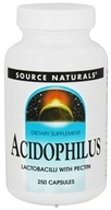 Source Naturals - Acidophilus Lactobacilli with Pectin - 250 Tablets