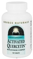 Source Naturals - Activated Quercetin Bioflavonoid Complex - 100 Tablets by Source Naturals