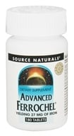 Image of Source Naturals - Advanced Ferrochel Yielding 27 mg Of Iron - 180 Tablets