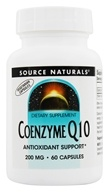 Source Naturals - CoEnzyme Q-10 200 mg. - 60 Vegetarian Capsules