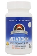 Source Naturals - Melatonin Sublingual Orange 2.5 mg. - 120 Tablets - $8.95