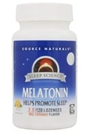 Image of Source Naturals - Melatonin Sublingual Orange 2.5 mg. - 120 Tablets