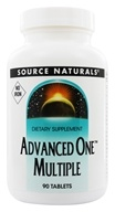 Source Naturals - Advanced One Multiple No Iron - 90 Tablets (021078014898)