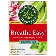 Traditional Medicinals - Breathe Easy Tea - Promotes Respiratory Health - 16 Tea Bags