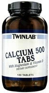 Twinlab - Calcium 500 Tabs With Magnesium & Vitamin D - 180 Tablets